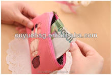 Cute oxford cell phone wallet bag for girls long sharp coin bag