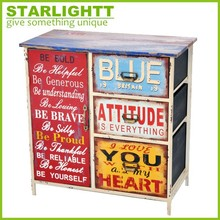 vintage baby drawer kid toy storage industrial cabinet
