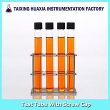 Glass Test Tube With Cap, borosilicate laboratory glassware