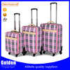 fashion girls England style beatiful travel luggage set / waterproof nylon 17 20 24inches luggage trolley bag