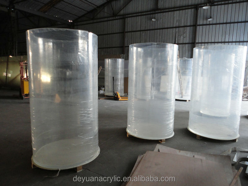 Clear Large Diameter Acrylic Tube For Interior Water