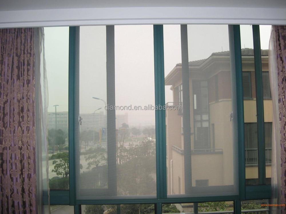 Stainless steel privacy window screen diamond mesh view for Window mesh screen