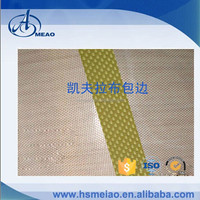 Kevlar cloth reionforcement edge PTFE high temperature conveyor belt