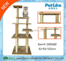 New design pet products natural wooden cat furnitures
