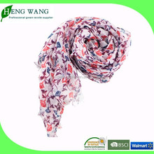 2015 Fashion lady scarf, 100 polyester scarf, printed scarf factory china