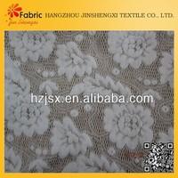 Cheap white beautigul cotton material african lace fabrics white