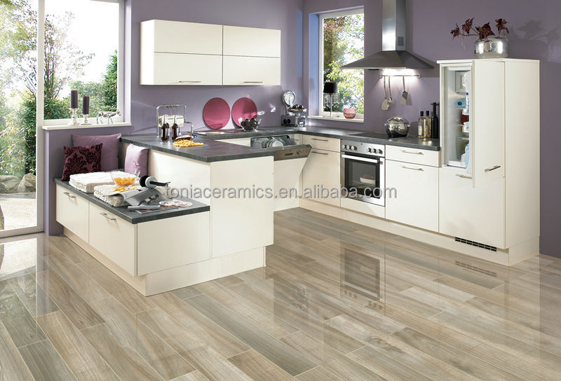 Tonia Polished Glazed Porcelain Glossy Wooden Floor Tiles - Buy ...