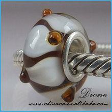 Beautiful European Murano Glass Bead Charm Single Core
