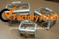 Metal Aluminum Colored Jewelry Box MLD-AC457