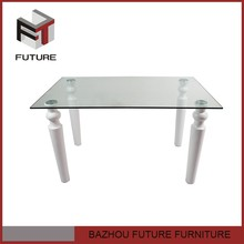 Simple classic european glass dining rooms table