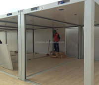 container structure frame/ flat pack container house price / modern prefab homes for sale