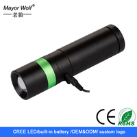 most powerful adjustable beam led hand crank rechargeable flashlight