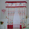 red new fitting room fancy window curtain designs