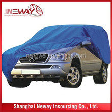 sky blue color SUV/JEEP auto shade/car waterproof cover