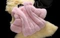 Luxe élégant court manteaux de fourrure de renard d'hiver au chaud