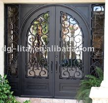 safety iron double doors design