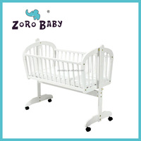 Swing baby bed/solid wood baby Cradle with pulley