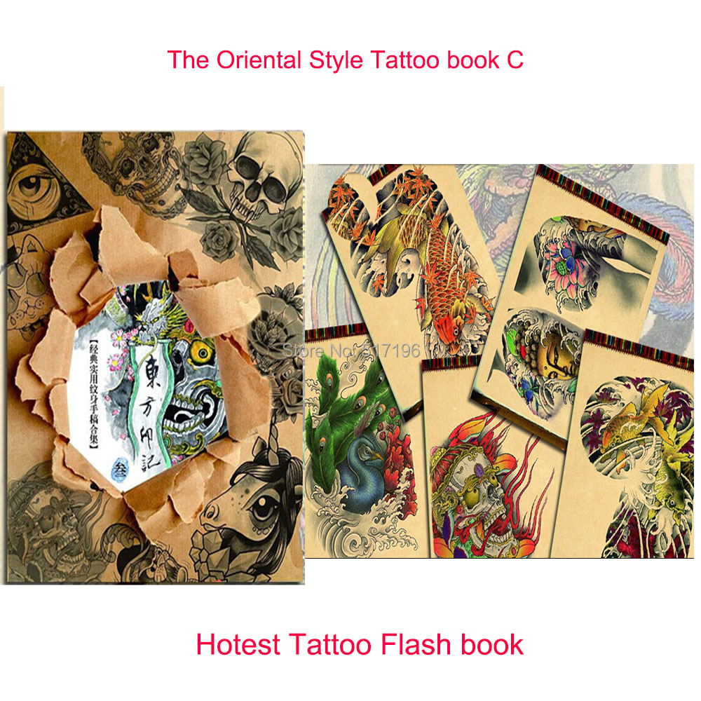 wholesale new the oriental style tattoo flash sketch book