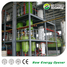 safety ensured invention waste pyrolysis oil refinery distillation plant