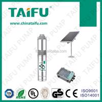 3TSS 2015 TAIFU new 24v dc submersible stainless steel screw solar irrigation pump set