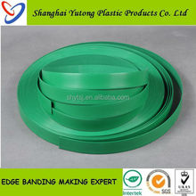 Green solid pvc plastic edge banding for decoration furnitures made in Shanghai