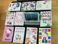 Factory !!!! hello kitty book style leather Wallet flip ,Cartoon Cute Hello Kitty Stand Pu Leather Case for new ipad mini