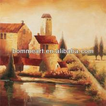 framed oil painting home decoration artwork