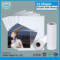 leading manufacturer semi glossy cast coated photo paper double side waterproof inkjet photo paper A4 size 130gsm for epson