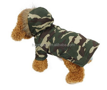 Classic top camouflage color dog two feets winter dog clothes