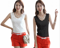 Elite99 New Sexy Women Lace Tank Top Vest Crochet Black White Blouse Sleeveless Tee Top