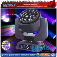 Newest!! Bee Eye 19pcs 15w led moving head stage light / lighting dmx 19pcs 15W led moving head disco lighting equipment