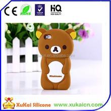 Sadness bear silicone mobile phone case