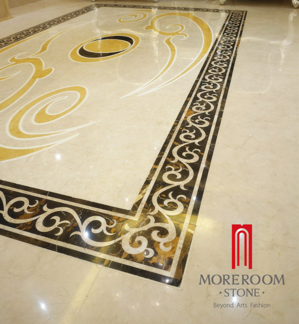 Italy Natural Stone Portoro Composite Marble Border Design For Hotel Project Flooring Decor From China Stonecontact Com