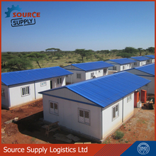 low cost Chinese Prefabricated house prices with elevated base system or raised floor system used as camp accommodation