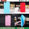 Jelly sleeve for Apple6 phone case TPU Solid color Mobile Phone Cases for iphone6