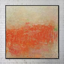 Simple abstract oil painting framed art