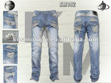 Kosmo Lupo High Quality and 100% Cotton 2012 Latest Fashion Bule Jeans