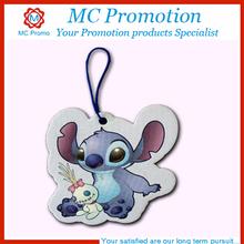 Custom little cartoon car air freshner for promotion