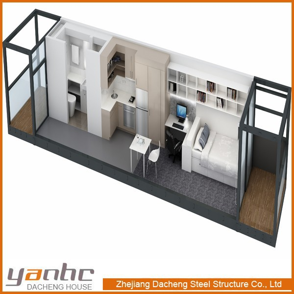 Low cost prefabricated living container homes buy for Maison low cost container