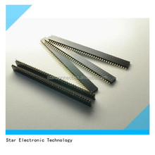 1.27mm pitch single row straight pin header strip connector