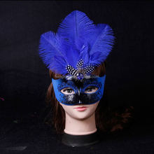 painted ostrich feathers mardi gras mask halloween masks