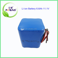 18650 Rechargeable 12V 6.6Ah lithium ion battery pack for power tools