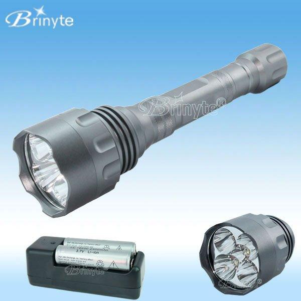 1300 lúmenes de alta potencia de aluminio CREE linterna LED #BR-1300L