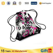 Hot sale custom black cotton drawstring bag