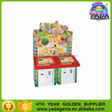 Children coin operated fruit cutting simulator game machine