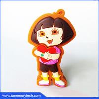 Dora the explorer cartoon usb flash drive chip+case high quality usb flash drives wholesale