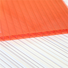 10mm-40mm Twin-wall Clear Polycarbonate Sheet for Sunny Roofing