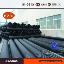 JunXing Brand 200mm sn4 hdpe double wall corrugated pipe