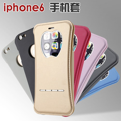 Slim Flip Window PU Leather Cover Case For iPhone 6 6 Plus