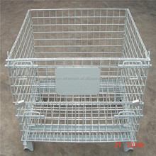 Made in China foldable collapsible steel wire mesh storage cage
